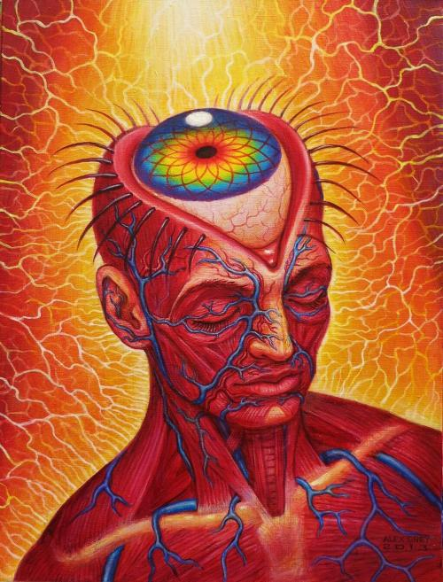 tiredmomentsintopleasure:  Aperture by Alex Grey