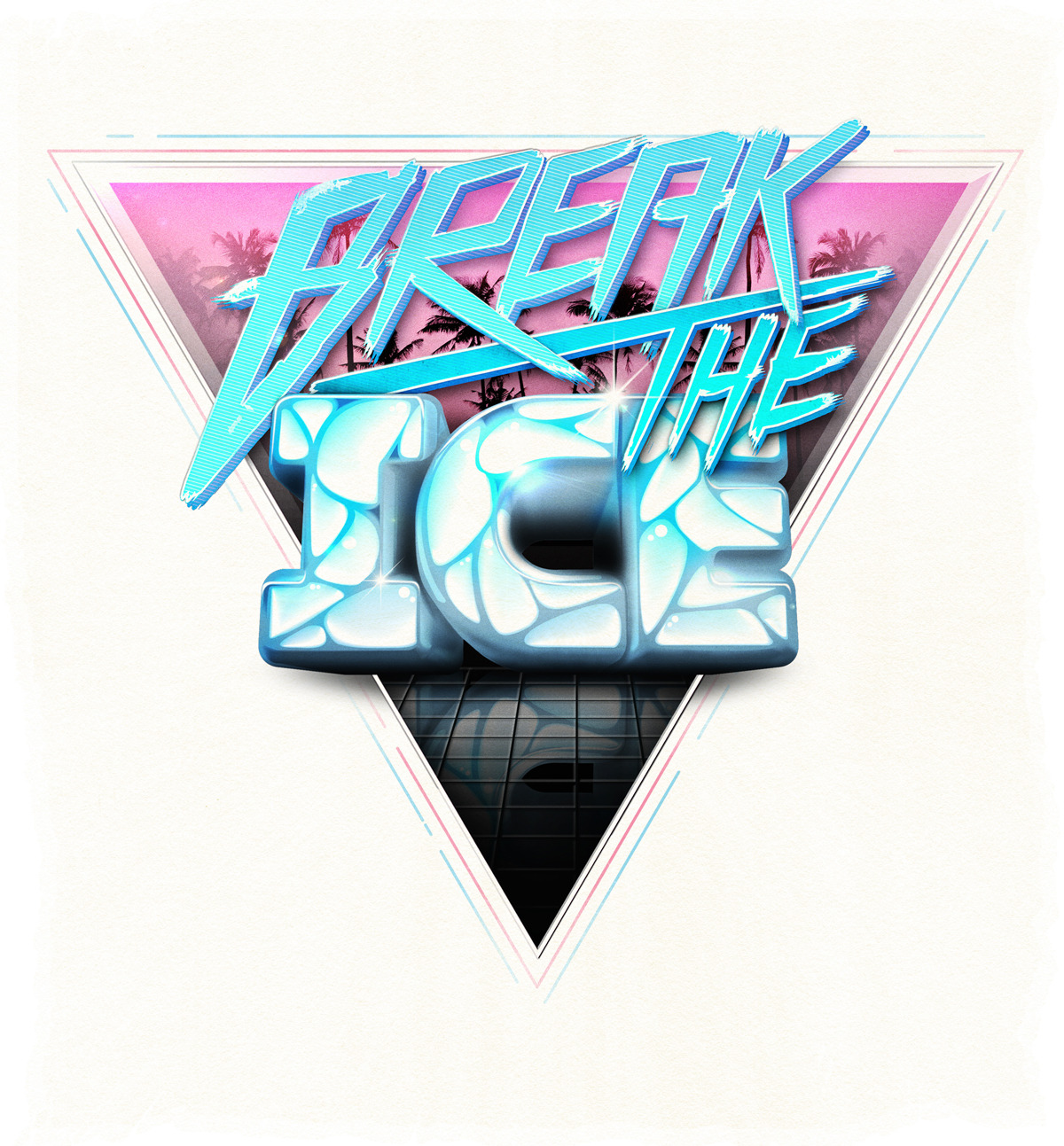 'Break The Ice' retro inspired typographic piece, just for fun. 1980's Miami? Freestyle BMX? John Farnham?