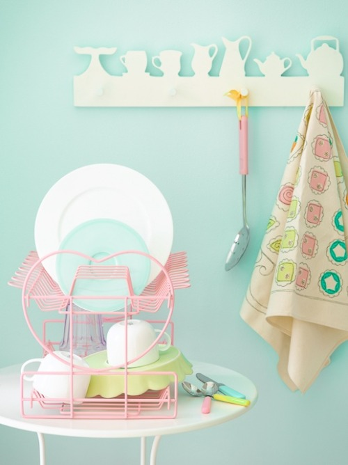 Fashion Trend: Sweet Sweet Pastels.  For the cutest kitchen