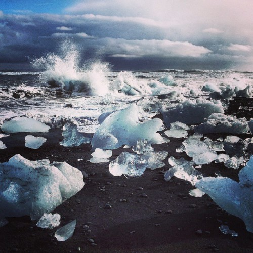 The ice beach, Iceland