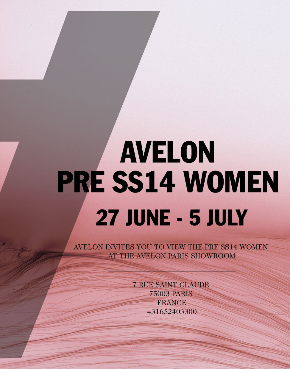 Invite AVELON Paris showroom SS14