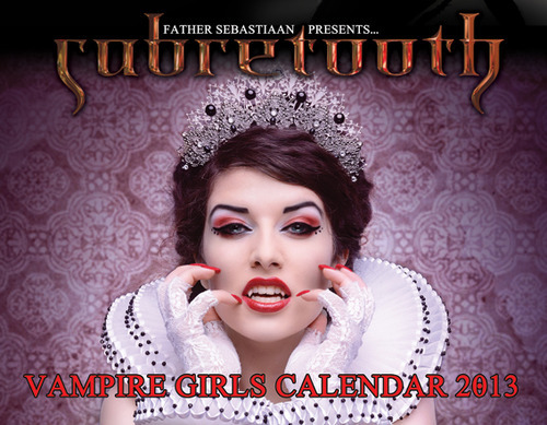 Eeeee Im featured in Father Sebastiaan 2013 Vampire Calender!!! Click on the photo to orders yours now!!! xxx