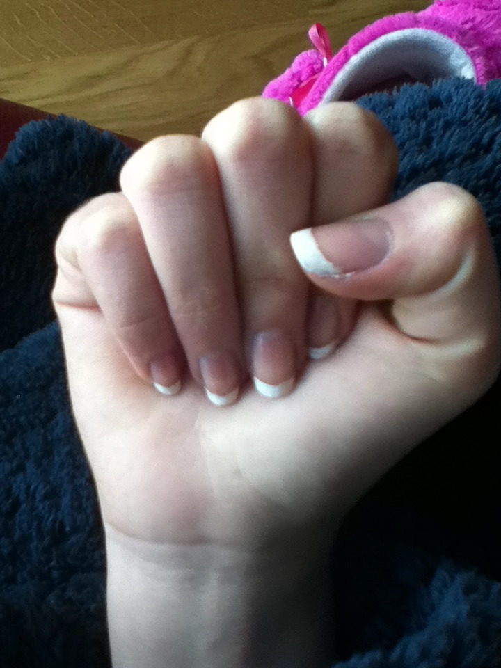 My frenchmanicure nails #lovely#cool