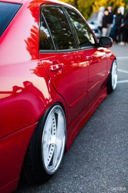 Throwbacks of my good friend's candy red Lexus IS300. Had it all.