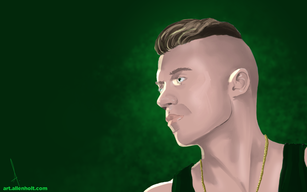 Macklemore.  Painted in Manga Studio 5.