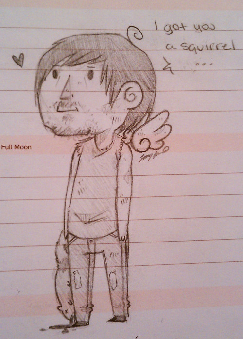 moose-sketchbook:  doodled little Daryl in 2-D because Nancy Nipples is a boring professor :p