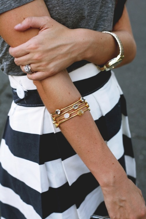 canadianprepster:  Striped skirt