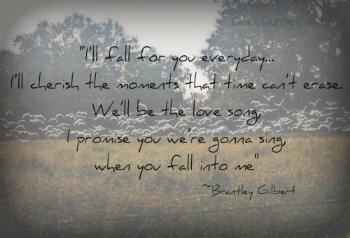 """Fall Into Me"" ~Brantley Gilbert [@northerncountryredhead, let me know if you like it. If not, I'll redo it :)]"