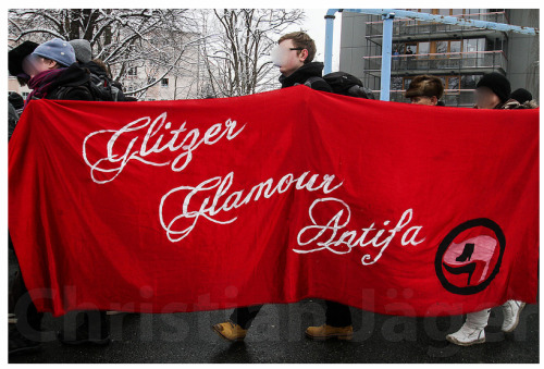 Glitter, Glamour, Antifa // Dresden, Germany // February 13, 2013