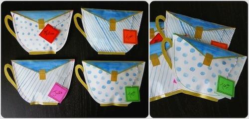 Merry Brides Diy Teacup Envelopes With Teabag Notes