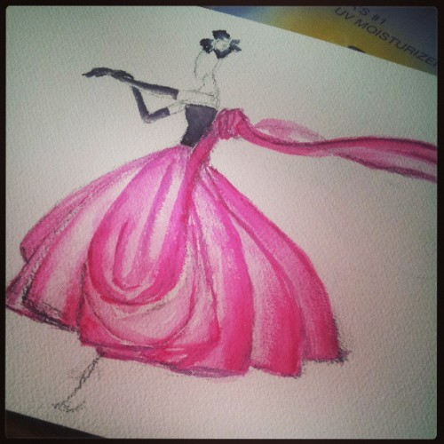 gorgeous fashion sketch from ElaineBiss