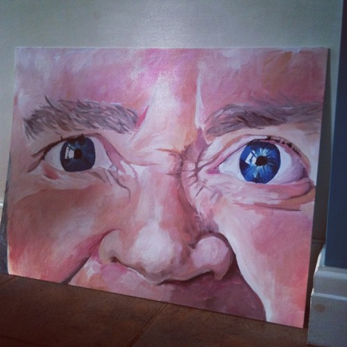 Scary painting of my nan ahah #art #painting #face #eyes