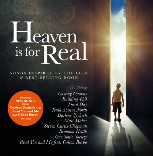 "So excited about this! Our song ""Heaven"" will be in the Heaven is for Real soundtrack along with this spectacular line up of other big name artists."