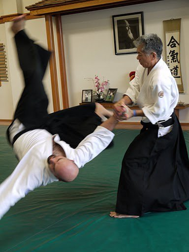 James Nakayama Sensei demonstrating technique at Kenshinkan Dojo in Vista, CA, USA.