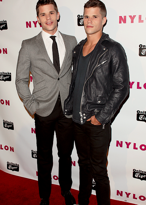 Max & Charlie Carver at the Nylon Celebration for the Annual May Young Hollywood Issue at The Roosevelt Hotel in Hollywood, California on May 14, 2013.