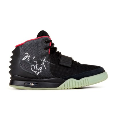 Signed and worn Air Yeezy II's up for auction.
