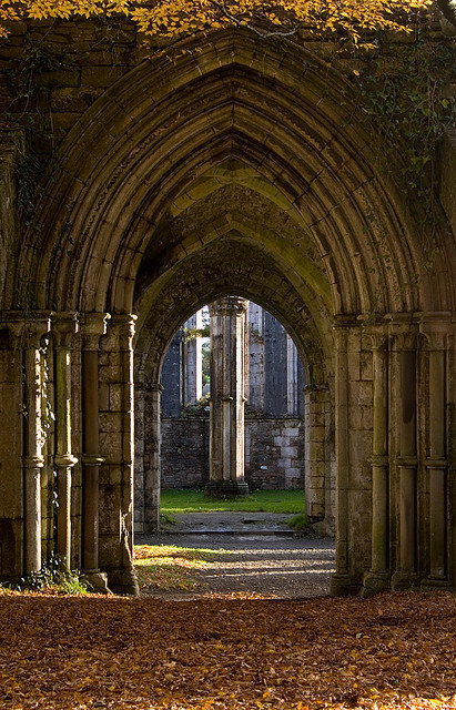 visitheworld:  Arches in the abbey at Margam Park, South Wales (by Andy39Smith).
