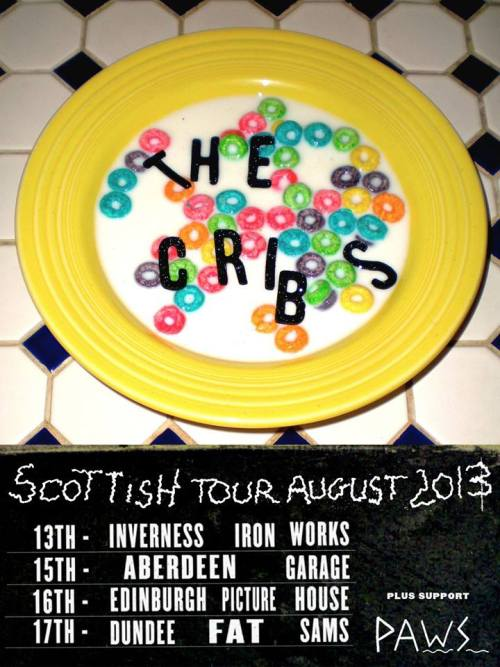 The Cribs & PAWS vs Scotland Summer 2013