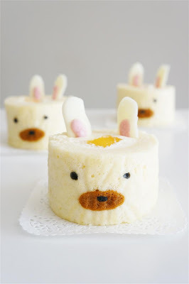 bunny deco cake roll click here for recipe