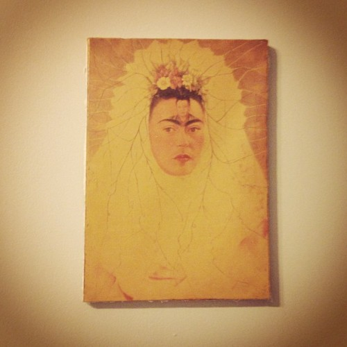 #frida #kahlo is officially hanging on my room now.