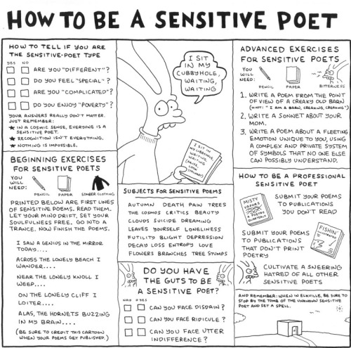 Matt Groening tells us how to be a sensitive poet.