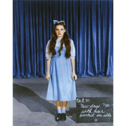"theactorinlife:  Costume test for Judy Garland in ""The Wizard of Oz"""