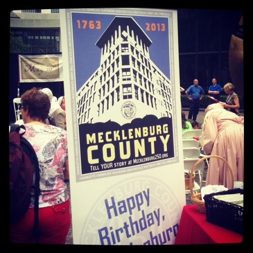 wcnc:  gvmiii:  Celebrating Mecklenberg County's 250th birthday in the Square #charlotte  Happy Meck Dec Day! What the hell is Meck Dec Day, you ask?