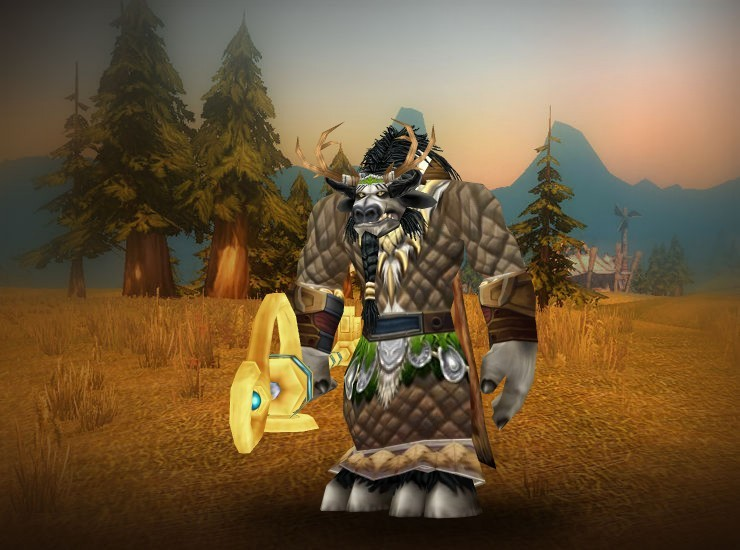 Sunweather, Guardian of Cenarius Male Tauren Druid US Sentinels [Headdress of the Verdant Circle] [Cenarion Spaulders] [Sergeant's Cloak] [Cenarion Vestments] [Alefire Bracers] [Marshseeker Gloves] [Belt of Smashed Feathers] [Dragonwing Leggings] [Vision-Tainted Treads] [Key to the Planes]