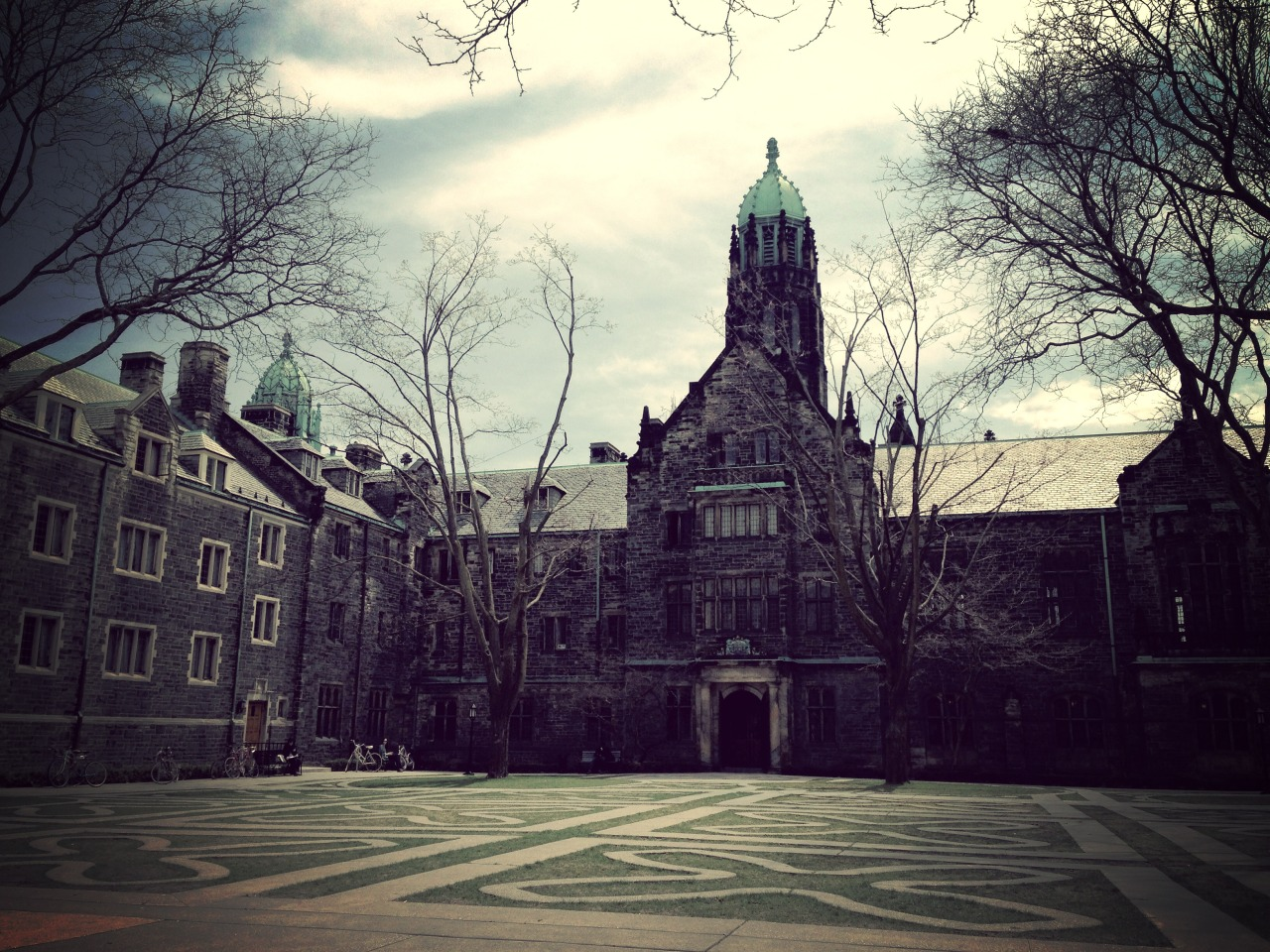 Trinity College Quad on a late April afternoon.