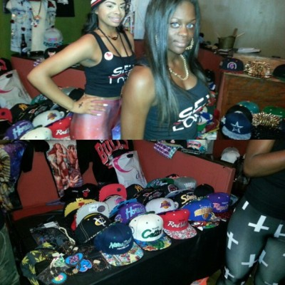 #Galaxy & #Crosses was at #PeepMyFeetRVA …. yeah u missed out! #RVA #Sneakers #Tights #Snapbacks #Fashion #Models