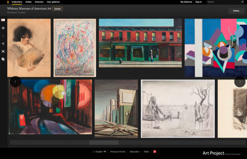 We're excited to announce the Whitney's presence on Google Art Project! Immerse yourself in works by Edward Hopper, Charles Demuth, Joseph Stella, and other artists at the foundation of the Whitney's collection.