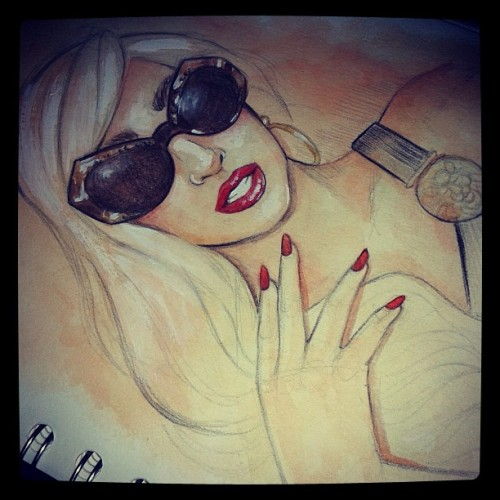 dollychops:  Gaga x Versace (unfinished)