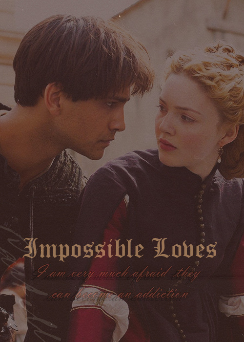 "truthdaughteroftime:  ""Impossible loves. I am very much afraid they can become an addiction"" Paolo & Lucrezia   Am I the only one who read it too quickly as ""Impossible Lobes"" on the edited image, then instantly checked their ears and went all Ezio about it, like: ""Wait… I don't get it""?… LMFAO"