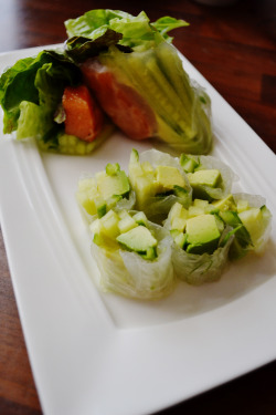 Viet summer rolls with a Japanese twist