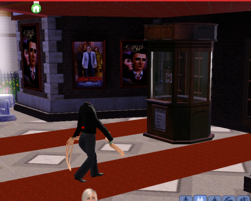 simsgonewrong:  making my way downtown…