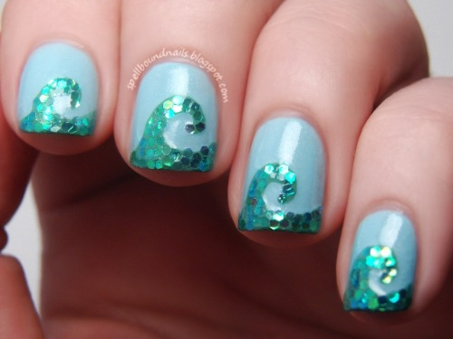 spellboundnails:  Time Periods Challenge: Ancient Greece Wave Mosaic http://spellboundnails.blogspot.com/2013/04/time-periods-challenge-ancient-greece.html