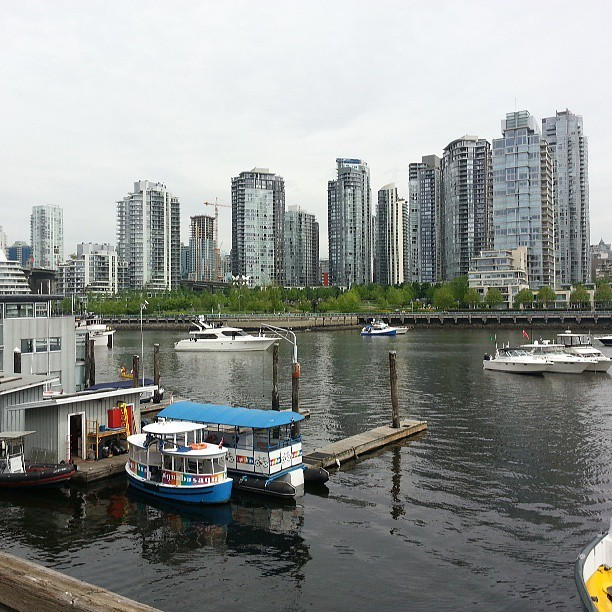 Parade of boats (at Granville Island)