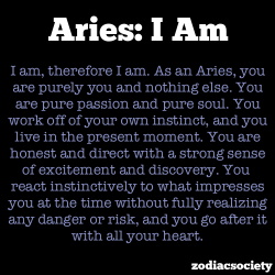 zodiacsociety:  Aries I Am
