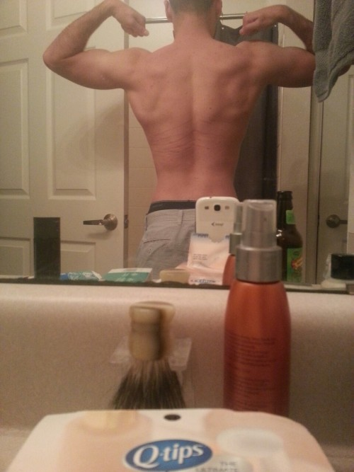 Its been awhile since I've posted my back. I don't have very good lighting in my new place because it seems so washed out.