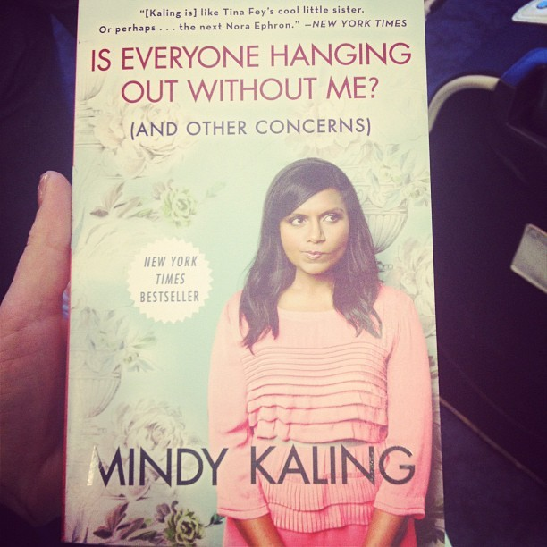 Instagram of the Week: Everyone Wants To Hang Out with Mindy Kaling We're not ashamed to admit that we have a major girl crush on actress/comedienne/writer Mindy Kaling. After seeing her pop up in a string of supporting movie roles, we're psyched to see Mindy rocketing her way to the top as the star of her new show The Mindy Project, and enjoying a lot of buzz for her memoir Is Everyone Hanging Out Without Me? (And Other Concerns). It also doesn't hurt that homegirl can rock a plum lip like no other. Community manager Rachel brought along a copy to read during her #mexication (yes, that is a hashtag, and yes, you can use it to follow her adventures on Twitter and Instagram). So tell us, are you a fan of comedy's newest it-girl? —Hallie For more behind-the-scenes looks at what our office and our staffers are up to on a day-to-day basis, be sure to keep an eye out for our Instagram of the Week!