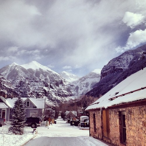 #ajax never gets old. #mountains #colorado #telluride #winter #snow #newyearsday