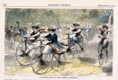 explore-blog:  Wheels of Change – for National Bike to Work Day, a brief visual history of how the bicycle emancipated women.  Bike to Work Day & celebration of how the bicycle emancipated women.