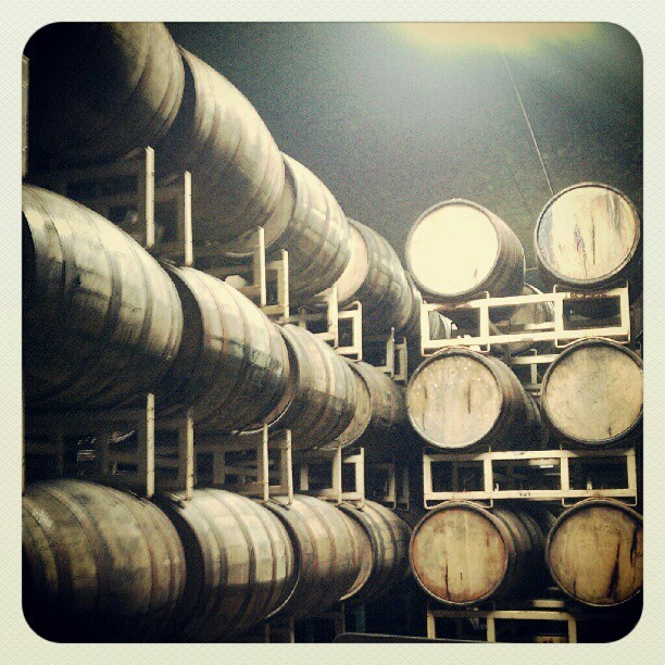 If only you could know what the barrel aging room smells like…  (at Central Waters Brewing Co.)