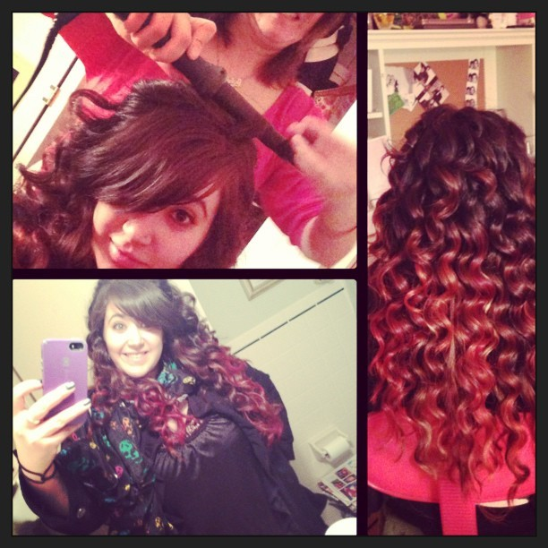 #happynewyear #hair!! #nye #newyear #curls! Starting #2013 #instyle! #newhair #ombre #red #girls #chicks #cute #pretty #longhair #memyselfandi #family #cousin @joro1110 #love