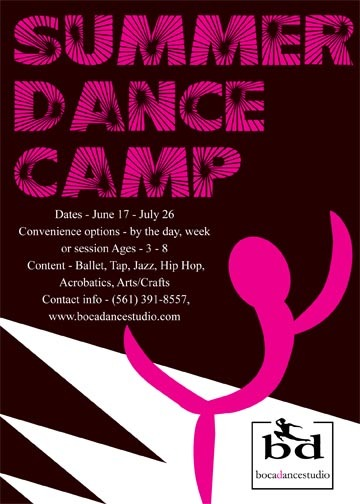 Ballet summer camp flyer I entered in a 99design contests