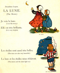 adelphe:  La Lune My Very First Little French Book c1911
