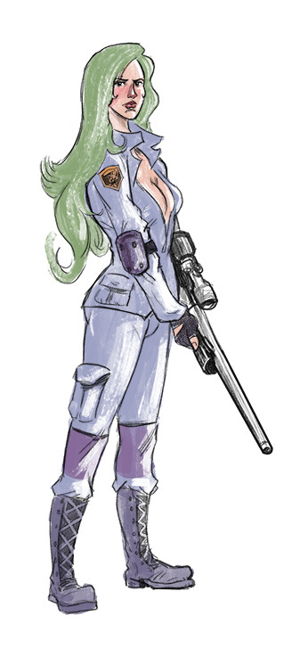 Sniper Wolf sketch I found a drawing I made years ago that made me wanna puke. I gave myself an hour to make some improvements.