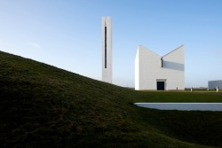 onsomething:  onsomething  Henning Larsen | Enghøj Church and Parish Center, 1993-94 Randers. Photo by Martin Schubert