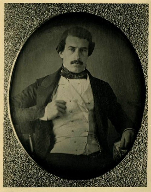 "Chilean president Federico Errazuriz Zañartu in his youth, early 1850s. He was pretty hot. Pity we cant say the same thing of his son, the also president Federico Errazuriz Echaurren   In ""La historia de chile de Encina y Castedo"", i found a memory of a chilhood friend of Errazuriz Echaurren, named Martina Barros who remind him as ""Pretty ugly and naughty"" and his nickname was ""Cabezon Errazuriz"" (Big head errazuriz"")"