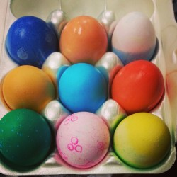 A little late but coloring Easter eggs with the baby cousins :)  I would say that I am a professional egg dyer.